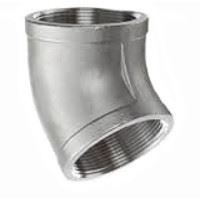 ¾ inch NPT threaded 45 deg 304 Stainless Steel elbow
