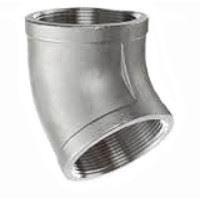 1 ¼ inch NPT threaded 45 deg 304 Stainless Steel elbow