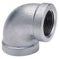 1 inch NPT threaded 90 deg galvanized elbow