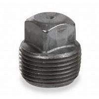 ¼ inch NPT malleable iron square head plug