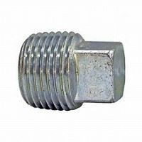 1 ¼ inch NPT galvanized malleable iron square head plug