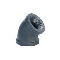 Picture of 4 inch NPT threaded 45 deg malleable iron elbow