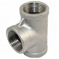 Picture of 2 inch NPT Class 150 Stainless Steel Straight Tee