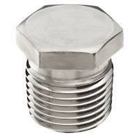 Picture of ¼ inch NPT Class 150 316 Stainless Steel hex head plug