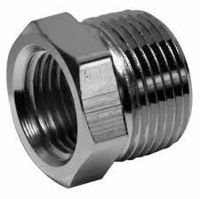 Picture of ¾ x ½ inch NPT 304 Stainless Steel Reduction Bushings