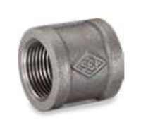 Picture of 1/2 inch NPT banded galvanized malleable iron full coupling