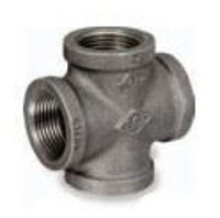 Picture of ¼ inch NPT class 150 galvanized malleable iron cross