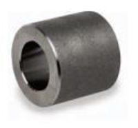 Picture of ¼ inch forged carbon steel socket weld coupling