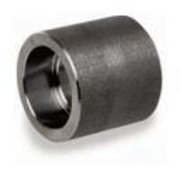 Picture of 1 ½ inch forged carbon steel socket weld half coupling