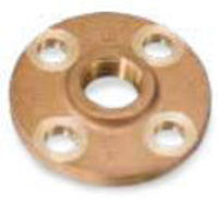 Picture of 1-1/4 inch NPT Threaded Class 150 Bronze Theaded Flange