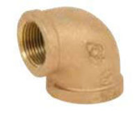 Picture of ¾ inch NPT Threaded Bronze 90 degree elbow