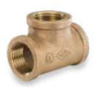 Picture of 1 inch NPT Threaded Bronze Tee