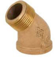 Picture of 1 ½ inch NPT Threaded Bronze 45 degree street elbow