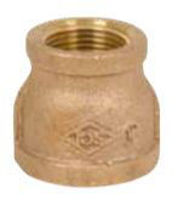 Picture of 1/2 x 1/8  inch NPT threaded bronze reducing coupling
