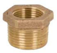 Picture of ⅜ x ⅛ inch NPT threaded bronze reducing bushing