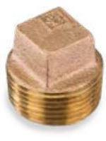 Picture of 4 inch NPT threaded bronze square head hollow core plug