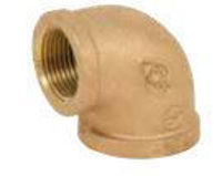 Picture of 1 inch NPT Threaded Lead Free Bronze 90 degree elbow