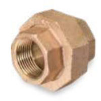 Picture of ⅜ inch NPT threaded lead free bronze union