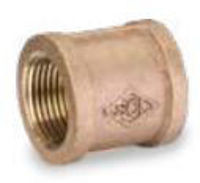 Picture of 1/4 inch NPT threaded lead free bronze full coupling