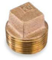 Picture of ⅛ inch NPT threaded lead free bronze square head solid plug