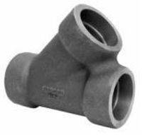 Picture of 2 inch NPS class 3000 forged carbon steel socket weld lateral